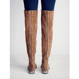 Free People Shoes - Free People Over Knee Carlisle Brown Suede Boot